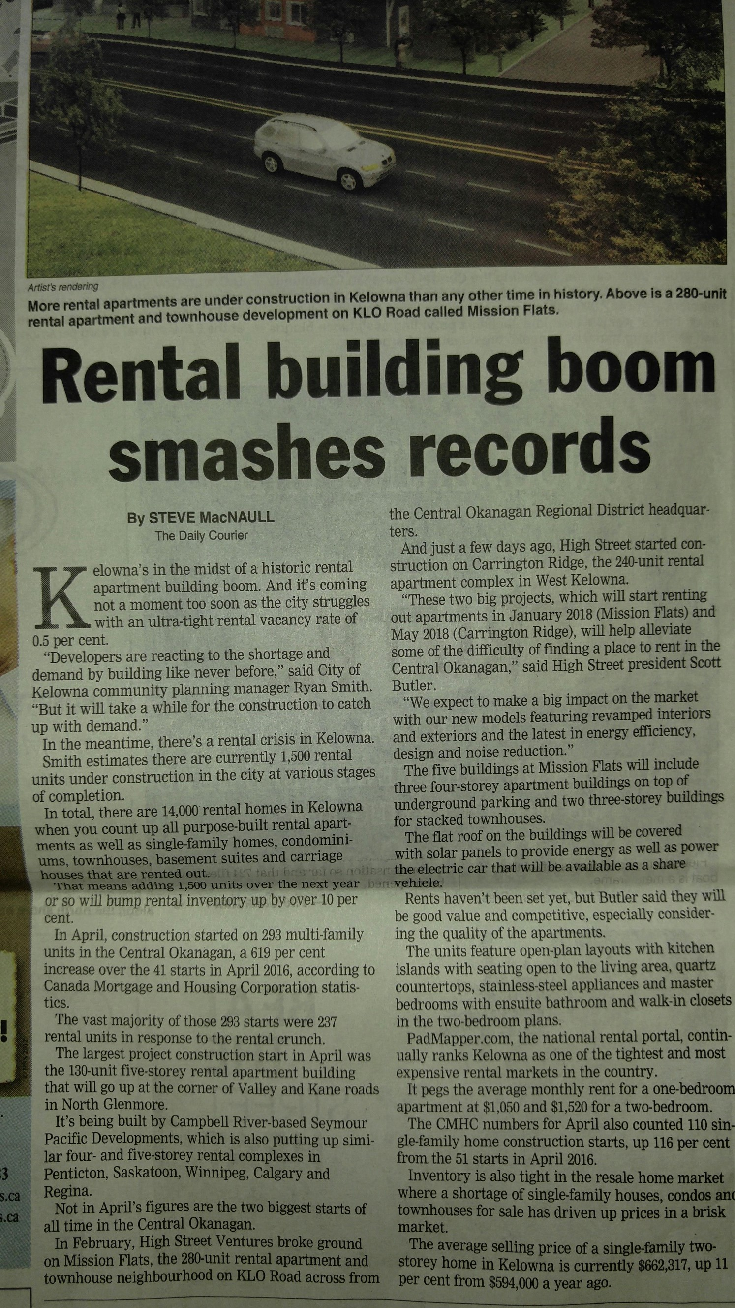 Rental Building Boom in Kelowna
