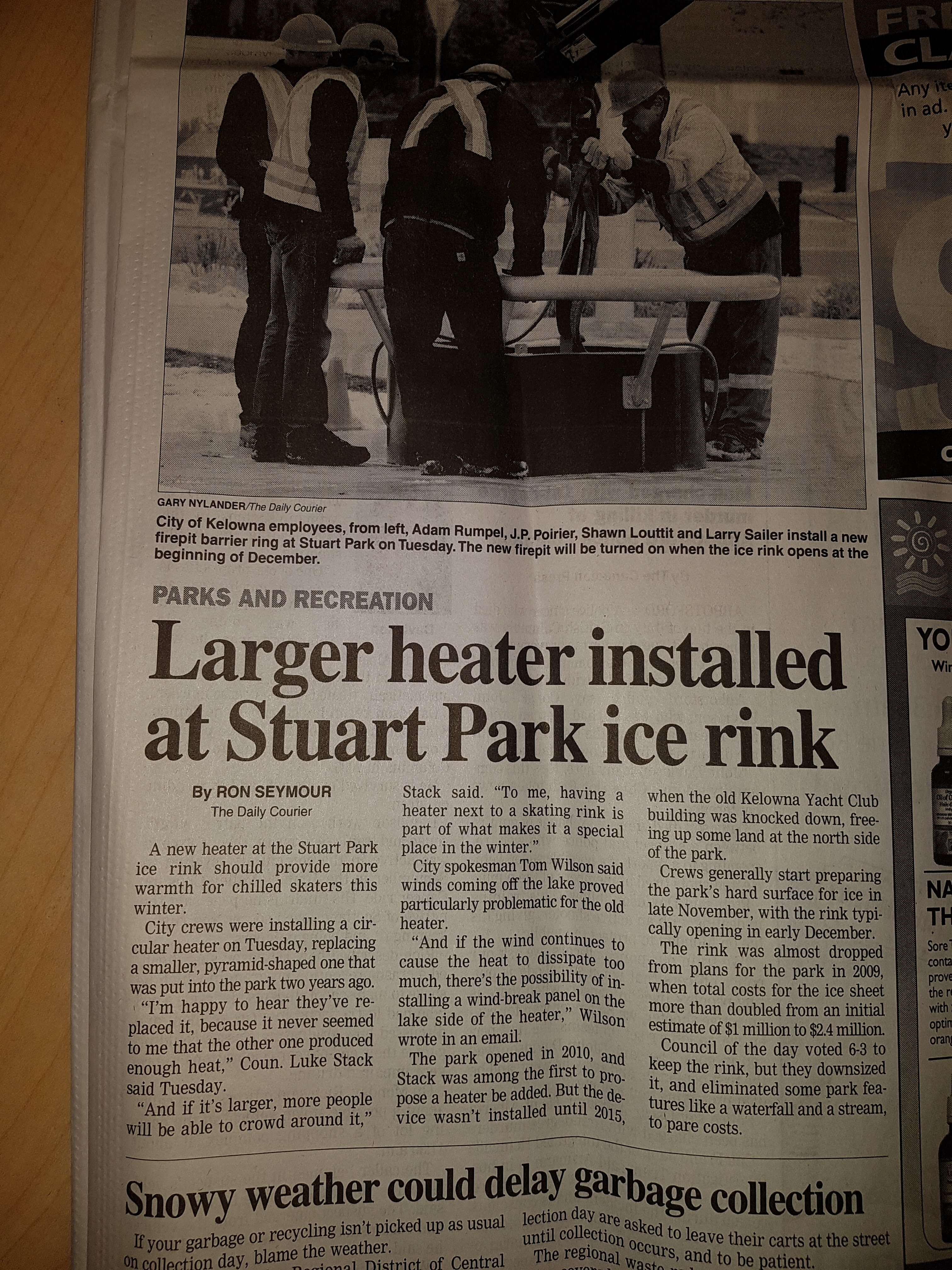 New and Improved Stuart Ice rink Heater